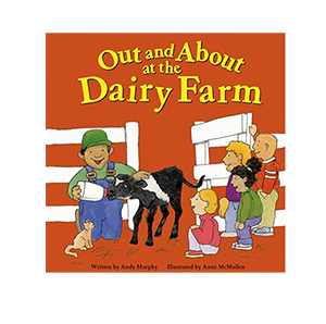 out and about at the dairy farm